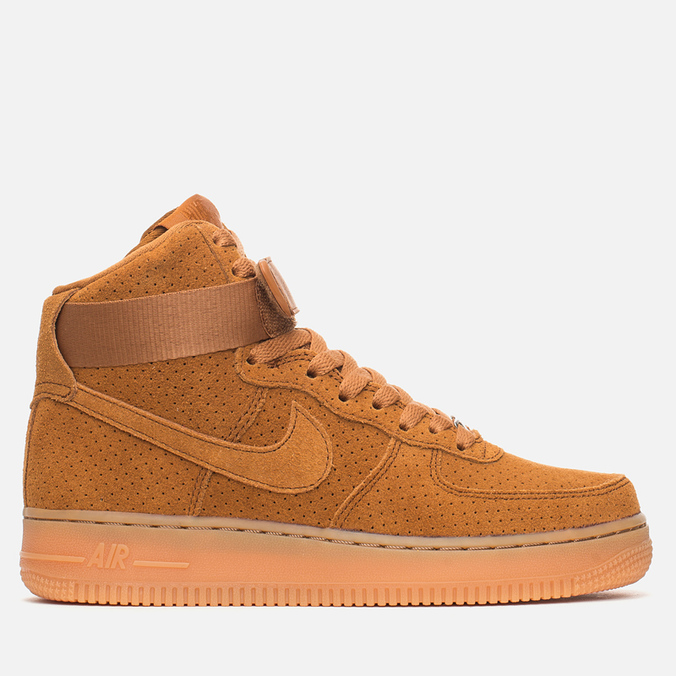 Женские кроссовки Nike Air Force 1 Hi Suede Tawny/Tawny