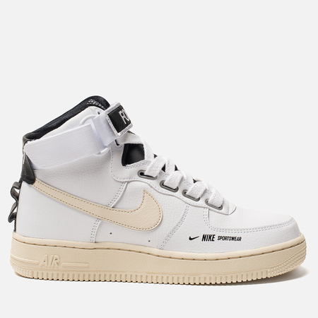 Женские кроссовки Nike Air Force 1 High Utility White/Light Cream/Black/White