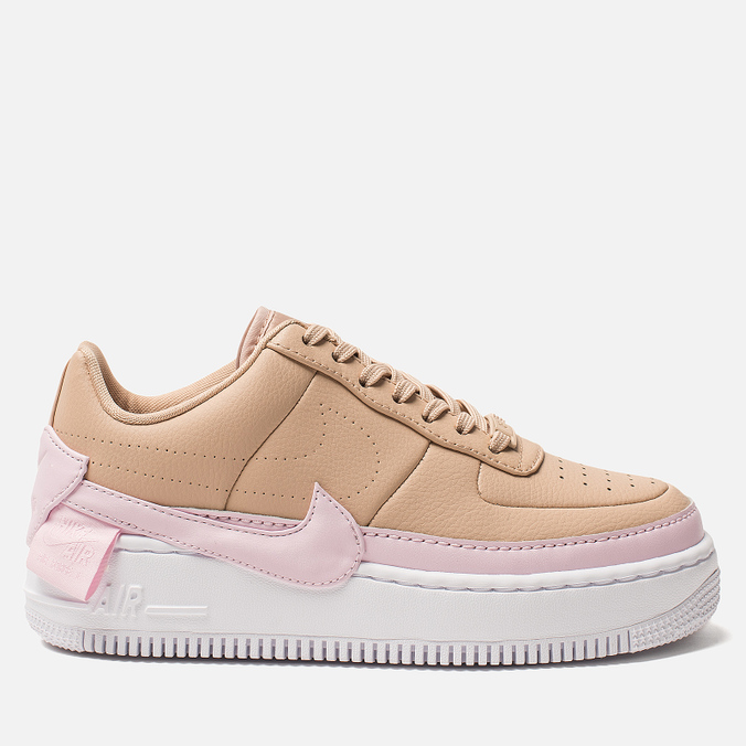Женские кроссовки Nike Air Force 1 Jester XX Bio Beige/Pink Force/White