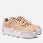 Женские кроссовки Nike Air Force 1 Jester XX Bio Beige/Pink Force/White фото- 2