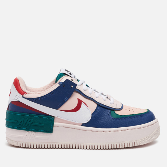 Женские кроссовки Nike Air Force 1 Shadow Mystic Navy/White/Echo Pink/Gym Red