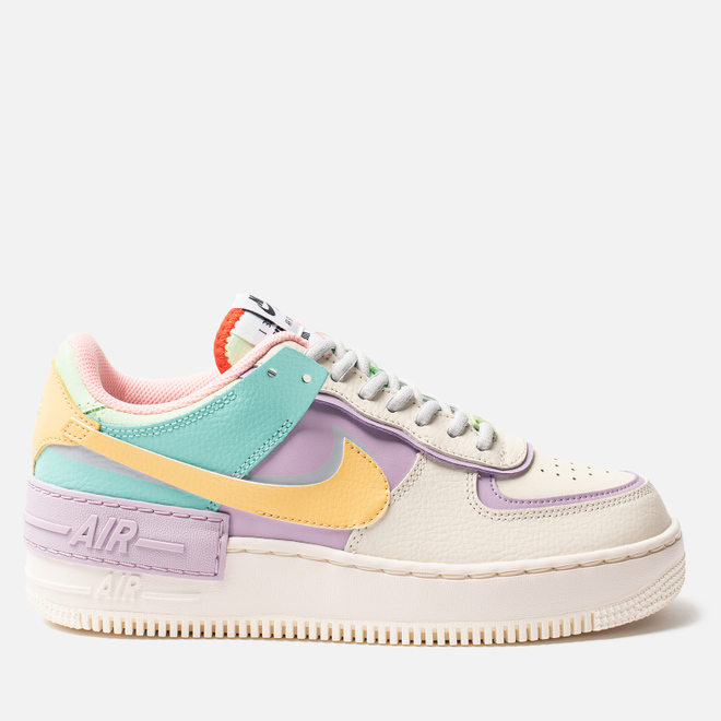 Женские кроссовки Nike Air Force 1 Shadow Pale Ivory/Celestial Gold/Tropical Twist