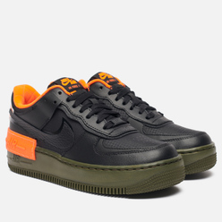 Кроссовки Nike Wmns Air Force 1 Shadow SE Black/Black/Hyper Crimson/Cargo Khaki