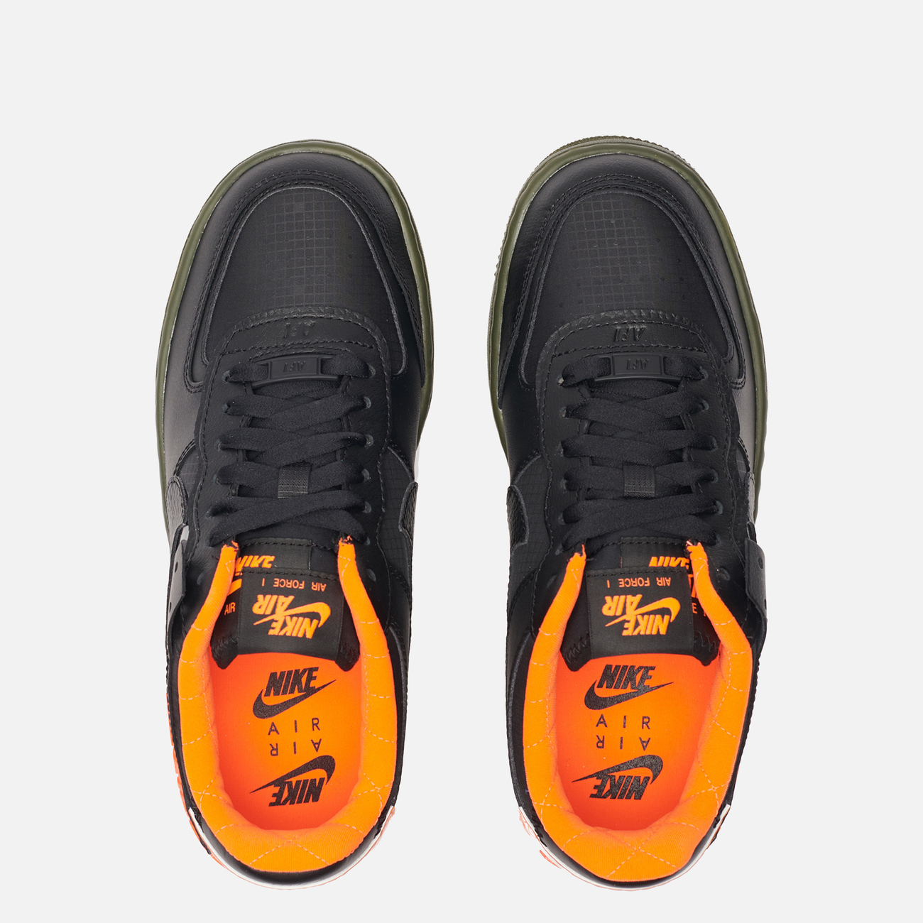 Женские кроссовки Nike Air Force 1 Shadow SE Black/Black/Hyper Crimson/Cargo Khaki