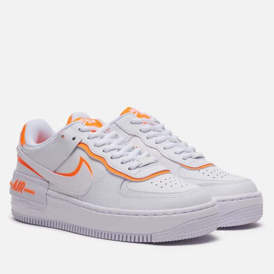 Женские кроссовки Nike Air Force 1 Shadow White/Summit White/Total Orange