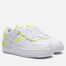 Женские кроссовки Nike Air Force 1 Shadow White/White/Lemon Venom фото- 0
