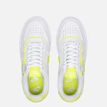 Женские кроссовки Nike Air Force 1 Shadow White/White/Lemon Venom фото- 1