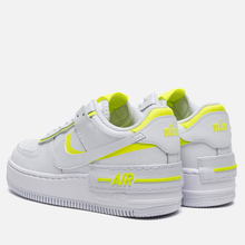 Женские кроссовки Nike Air Force 1 Shadow White/White/Lemon Venom фото- 2