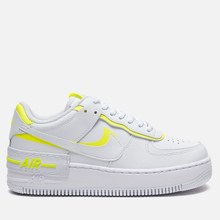 Женские кроссовки Nike Air Force 1 Shadow White/White/Lemon Venom фото- 3
