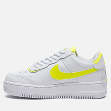 Женские кроссовки Nike Air Force 1 Shadow White/White/Lemon Venom фото- 5