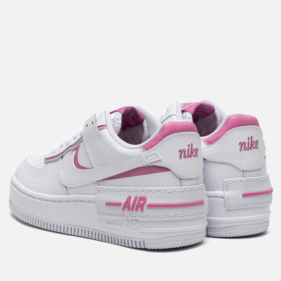 Женские кроссовки Nike Air Force 1 Shadow White/White/Magic Flamingo