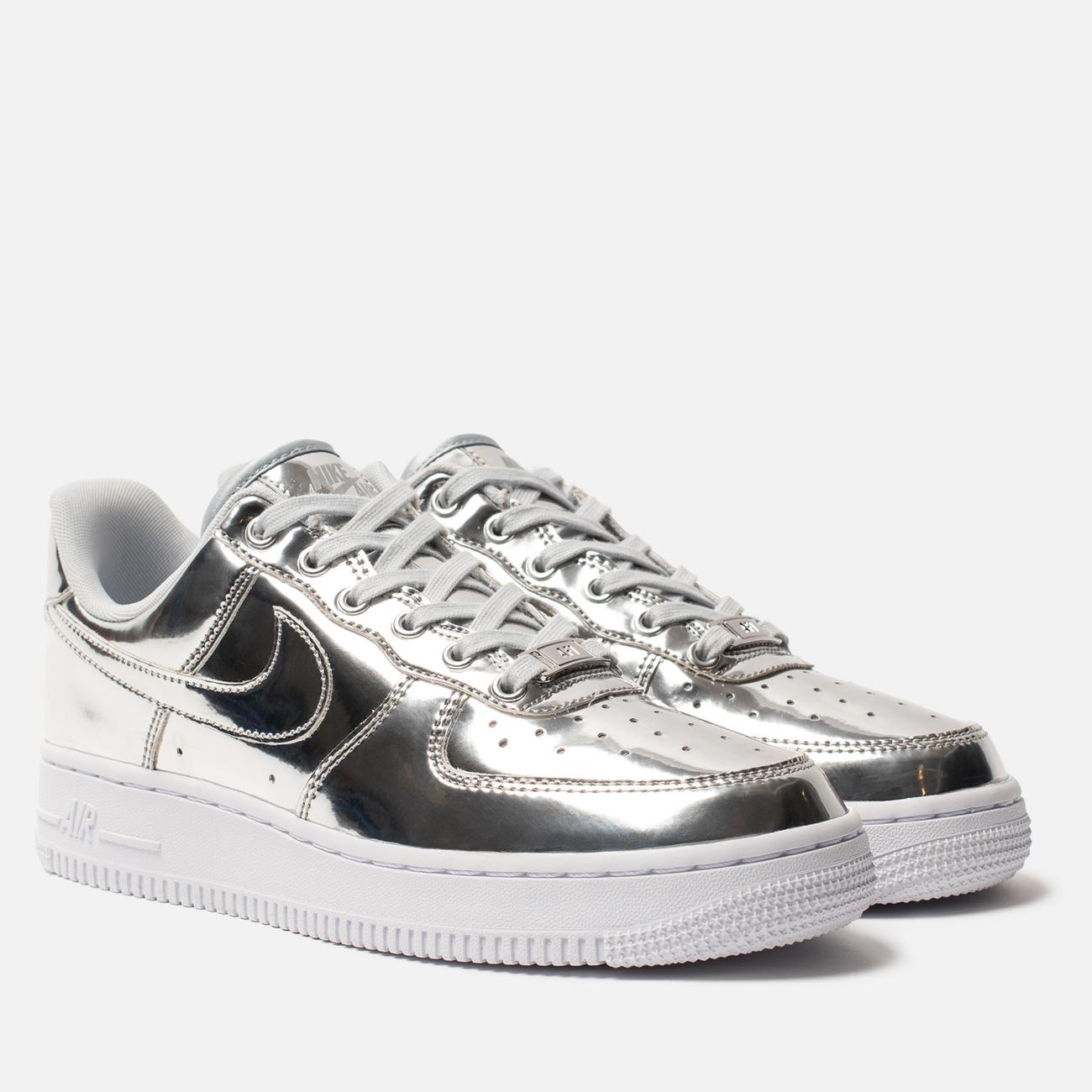 Женские кроссовки Nike Air Force 1 SP Chrome/Metallic Silver/White