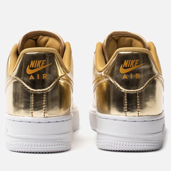 Женские кроссовки Nike Air Force 1 SP Metallic Gold/Club Gold/White