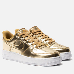 Женские кроссовки Nike Air Force 1 SP Metallic Gold/Club Gold/White