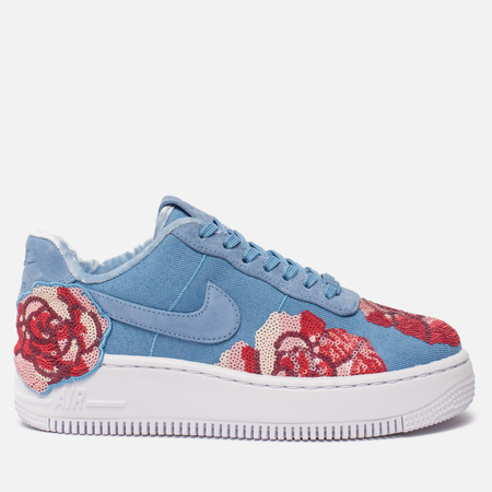 Кроссовки Nike Air Force 1 Upstep LX Floral Sequin Pack December Sky