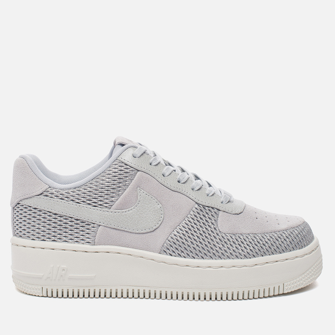 Женские кроссовки Nike Air Force 1 Upstep Premium Metallic Platinum/Pure Platinum