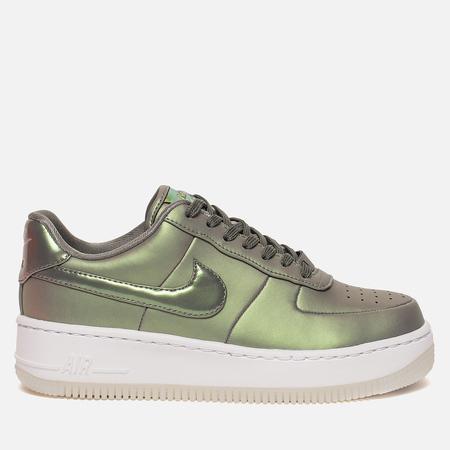 Женские кроссовки Nike Air Force 1 Upstep Premium LX Dark Stucco/Dark Stucco/White
