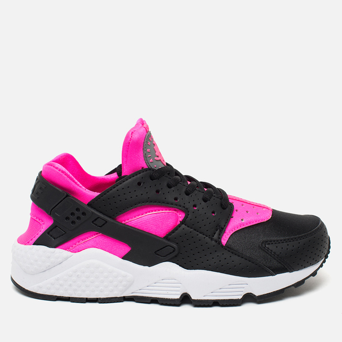 Женские кроссовки Nike Air Huarache Run Black/Pink Blast/White