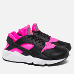 Женские кроссовки Nike Air Huarache Run Black/Pink Blast/White фото- 1