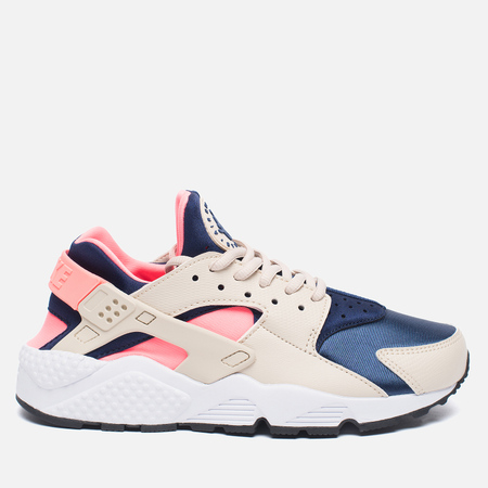 Женские кроссовки Nike Air Huarache Run Oatmeal/Binary Blue/Lava Glow