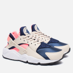 Женские кроссовки Nike Air Huarache Run Oatmeal/Binary Blue/Lava Glow фото- 2