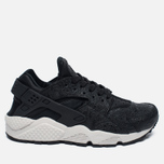 Женские кроссовки Nike Air Huarache Run Premium Black/Light Bone/Dark Grey фото- 0