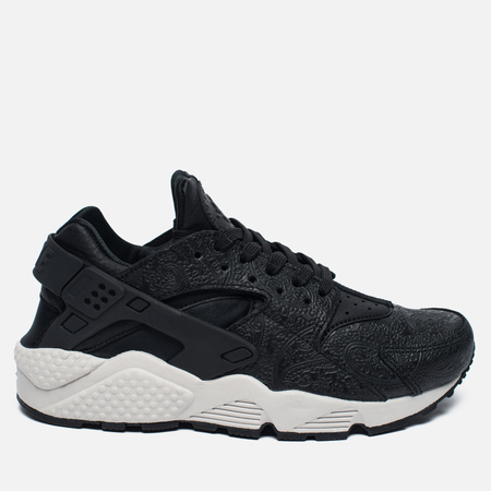 Женские кроссовки Nike Air Huarache Run Premium Black/Light Bone/Dark Grey