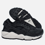 Женские кроссовки Nike Air Huarache Run Premium Black/Light Bone/Dark Grey фото- 1