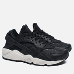 Женские кроссовки Nike Air Huarache Run Premium Black/Light Bone/Dark Grey фото- 2