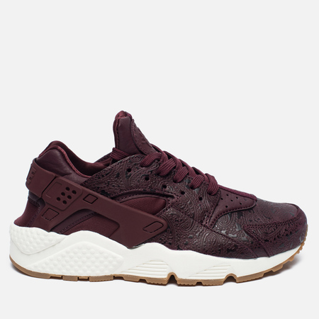 Женские кроссовки Nike Air Huarache Run Premium Night Maroon/Sail