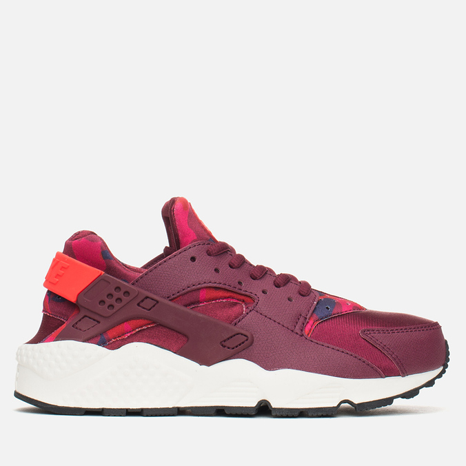 Женские кроссовки Nike Air Huarache Run Print Deep Garnet/Bright Crimson