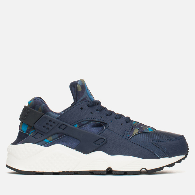 Женские кроссовки Nike Air Huarache Run Print Obsidian/Black Sail