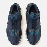 Nike Air Huarache Run Print Women's Sneakers Obsidian/Black Sail photo- 4