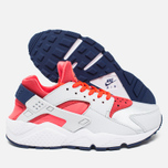 Женские кроссовки Nike Air Huarache Run Pure Platinum/Bright Crimson/Loyal Blue фото- 2