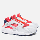 Женские кроссовки Nike Air Huarache Run Pure Platinum/Bright Crimson/Loyal Blue фото- 1