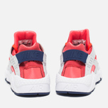 Женские кроссовки Nike Air Huarache Run Pure Platinum/Bright Crimson/Loyal Blue фото- 3