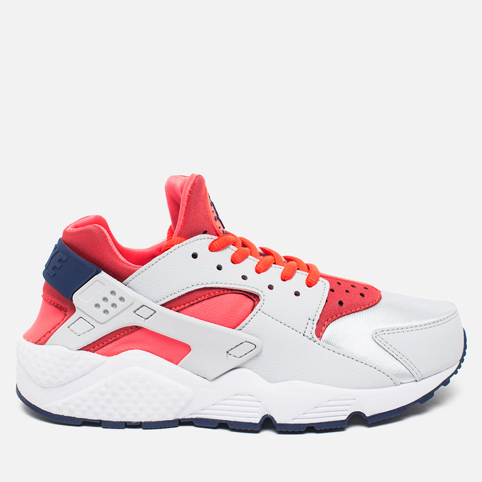 Женские кроссовки Nike Air Huarache Run Pure Platinum/Bright Crimson/Loyal Blue
