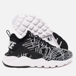 Nike Air Huarache Run Ultra Jacquard Women's Sneakers Black/White photo- 2