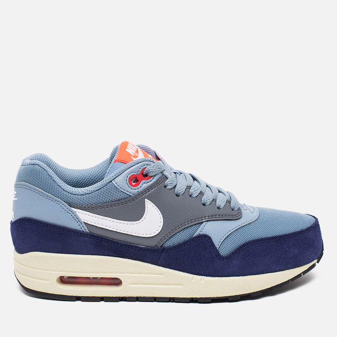 Женские кроссовки Nike Air Max 1 Essential Blue Grey/Bright Crimson/Loyal Blue/White
