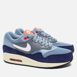 Женские кроссовки Nike Air Max 1 Essential Blue Grey/Bright Crimson/Loyal Blue/White фото- 1