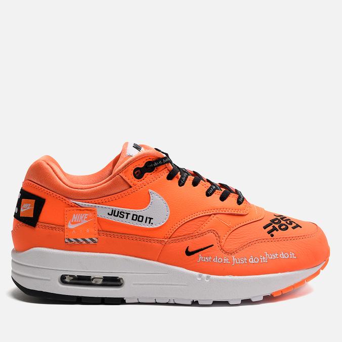 60f49653 Женские кроссовки Nike Air Max 1 Lux Just Do It Total Orange/White/Black ...