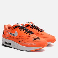 Женские кроссовки Nike Air Max 1 Lux Just Do It Total Orange/White/Black