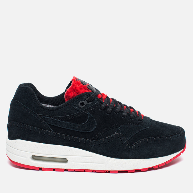 Женские кроссовки Nike Air Max 1 Premium Sherpa Pack Black/Red