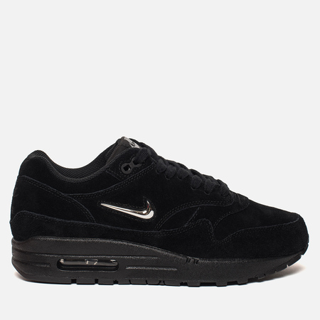 Женские кроссовки Nike Air Max 1 Premium SC Black/Metallic Silver/Wolf Grey