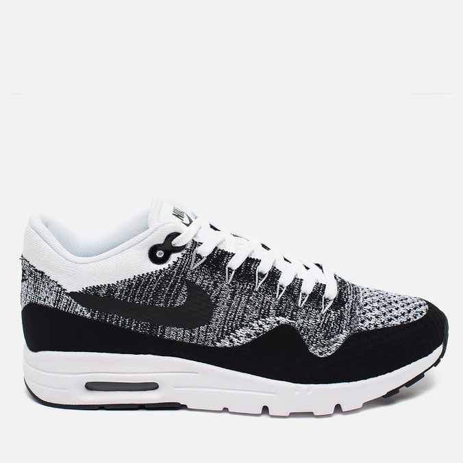 Женские кроссовки Nike Air Max 1 Ultra Flyknit White/Black