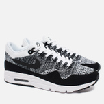 Женские кроссовки Nike Air Max 1 Ultra Flyknit White/Black фото- 1