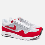 Женские кроссовки Nike Air Max 1 Ultra Flyknit White/University Red/Pure Platinum фото- 1