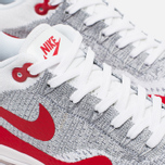 Женские кроссовки Nike Air Max 1 Ultra Flyknit White/University Red/Pure Platinum фото- 5