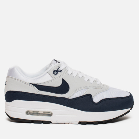 Женские кроссовки Nike Air Max 1 White/Obsidian/Pure/Platinum