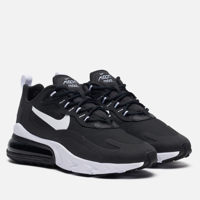 Женские кроссовки Nike Air Max 270 React Black/White/Black/Black